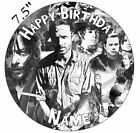 Walking Dead Personalised Edible Icing Cake Topper Square Round Rect