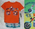 Kids Headquarters Boys Tee Shorts 2 Piece Set Short Sleeve Kids sizes 5 6 7 NEW