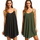 Women's Sleeveless Chiffon Party Evening Casual Cocktail Short Mini Dress  M18