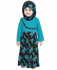 Floral Printed Kids Abaya, Islamic Girls Wear Dress ZKA-007 $36.0 USD