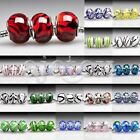 5/10pcs Murano Glass European Spacer Beads Lampwork Fit Bracelet Chain LB3 FB
