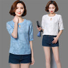 Women's Short Sleeve Summer Shirts New Fashion Chiffon Tops Casual Loose Blouses
