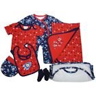 Baby Boys Rocket Clothes Set 7 Piece Cotton Inc Bib Sleepsuit Socks and Hat NEW