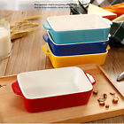 Rectangle Ceramic Baking Pan Roasted / Cereal Bowl Oven Pasta Bread Bakeware