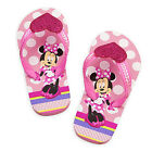 MINNIE MOUSE Girls Flip Flops w/Optional Sunglasses Toddlers Beach Sandals NWT