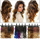 Clip in 11 Colors Hair Extension Real Thick as Human Long Curly Wavy synthetic