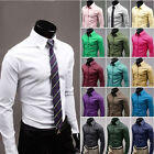 Men's Luxury Stylish Casual Dress Slim Fit T-Shirts Hot Series Long Sleeve White
