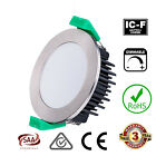 12W LED Downlight DIMMABLE Warm White or Cool White, Chrome or White