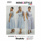 Simplicity 8301 Sewing Pattern Mimi G Style Misses 6-24 Overalls Jumper Crop Top