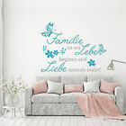 Wall Tattoos Wall Stickers Family ist wo Life begins and Love never ends
