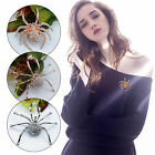 Vintage Style Halloween Spider Brooch Pin Rhinestone Crystals Insects Jewelry