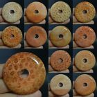 "50mm Coral fossil donut pendant bead 2""*each one pictured*"