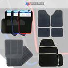 Heavy Duty Universal Black Car Mat Set Non Slip Grip Mats Rubber / Carpet Floor