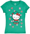 Hello Kitty Christmas T-Shirt Holiday Elf Top Sanrio Girls Age 8-14