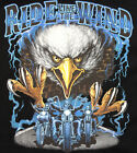 NEW HD Ride Like the Wind Cruisers & American Eagle Biker Motorcycle T Shirt