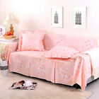Canvas 100% Cotton Slipcover Sofa Cover lUSl for 1 2 3 4 seater Floral cym