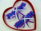 New Sexy Hot Bridal Blue White Purple Wedding Garter PROMOccasion