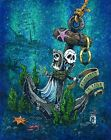 Anchored In Love by David Lozeau Skeleton Love Bride and Groom Canvas Art Print