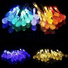 LED Solar Water Drop String Light For Christmas Party Garden Tree Decorative EW