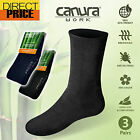 3 Pairs Bamboo Work Socks 88% Bamboo Thick Work Socks Mens Heavy Duty Cushion