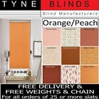 "**BARGAIN** Vertical blind SLATS LOUVRES - 3.5"" Orange Peach Terracotta"