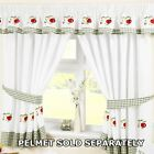 Kitchen Window Curtains Pair Voile Or Matching Pelmets Embroidered New