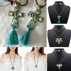 New Women Vintage Leather Alloy Chain Pendant Necklace Statement Chunky Bib Hot