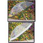 """48"""" Clear Auto Open Golf Umbrella, Transparent, All Clear or Clear  White"""