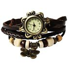Women's Ladies Fashion Boho-Chic Handmade Leather Bracelet Watch Butterfly GiftWristwatches - 31387
