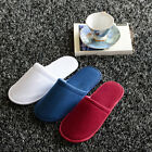 New Pairs White Disposable Slippers Towelling Hotel Slippers SPA Slippers Guest