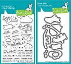 Lawn Fawn Plane and Simple - Clear Stamp (LF1409) or Craft Die (LF1410)
