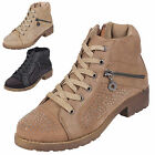WOMENS LADIES LOW BLOCK HEEL HIGH TOPS  ZIP DIAMANTE TRAINERS ANKLE BOOTS SHOES