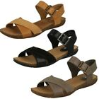 Ladies Clarks Casual Summer Sandals with Buckle - 'Autumn Air'