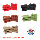 Set of 4 Chair Cushion Seat Pad Patio Outdoor Garden Dining Furni