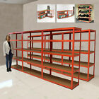 NEW EXTRA WIDE 120CM 5 TIER HEAVY DUTY BOLTLESS METAL INDUSTRIAL RACKING STORAGE