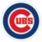 Chicago Cubs Glow Logo Vinyl Sticker Decal *SIZES* Large Cornhole Wall Bumper