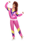 80's 90's Height Of Fashion Pink Shell Suit Tracksuit Fancy Dress Costume