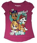 Nickelodeon Paw Patrol Girls Shirt Pink Paw-fect Hi-Low Short Sleeve NEW