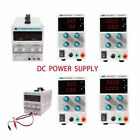 Variable Adjustable Switch Lab Digital DC Power Supply Experimenters Clip Cable