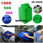 10/50/100Pc Absorbent Microfiber Towel Car Home Kitchen Washing Clean Wash Cloth