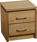 Charles 2 Drawer Bedside Chest Oak White Walnut Effect Bedroom