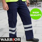 Drivers Warehouse High Visibility Cargo Work Safety Trousers Pants Hi Vis Viz