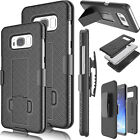 Belt Clip Holster W/Kickstand Hard Case Cover for Samsung Galaxy S8 Plus + / S8