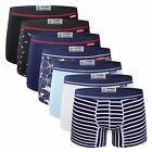 Hot 7pcs Mosmann Men's Classic Underwear Trunks Boxer Briefs Shorts Underpants