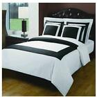 10PC  Hotel Down Alt. Combed Bed in A Bag - Black/White