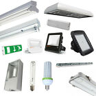 Warehouse DEL Lighting T8 Fluorescent Fittings, LowBay, HighBay, Floodlights etc