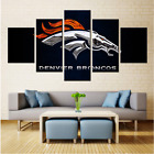 5 Panel Denver Broncos Painting Printed Canvas Wall Art Picture Home Décor