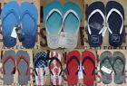 NWT Hollister Men Graphic Rubber Logo Flip Flop Slippers By Abercrombie & Fitch