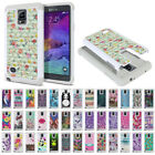 samsung note 4 accessories - For Samsung Galaxy Note 4 Design Dual Layer Shock Proof Hybrid Bling Case Cover