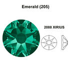 EMERALD 205 green Genuine Swarovski 2058 & 2088 Flat Back Rhinestones *All Sizes
